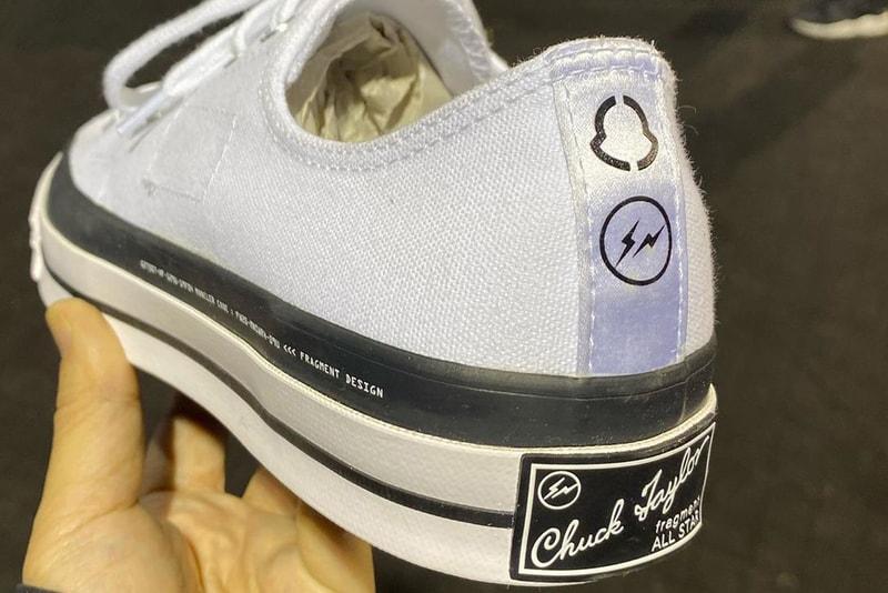 Un premier aperçu d'une sneaker Moncler x fragment design x Converse