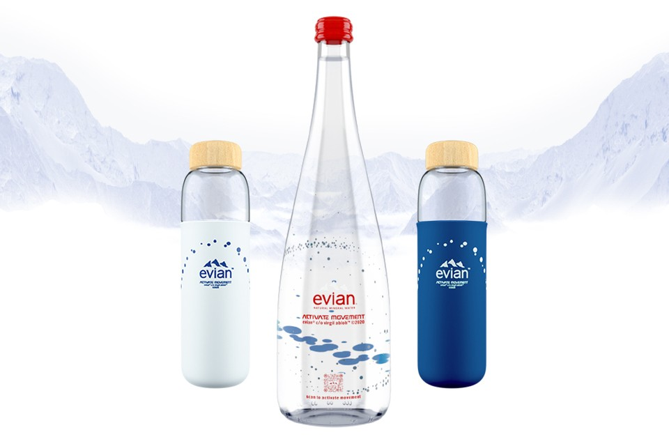 Evian x Virgil Abloh : Nouvelle bouteille collaborative | HYPEBEAST
