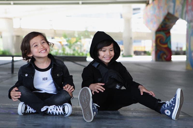 heir kids toronto children moto jackets hoodies layered shorts