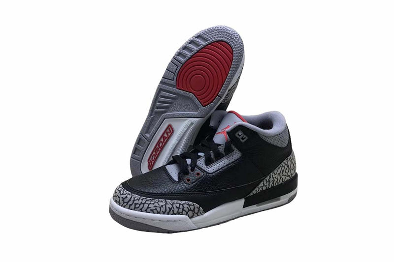 Nike Classic Air Jordan 3 Black Cement