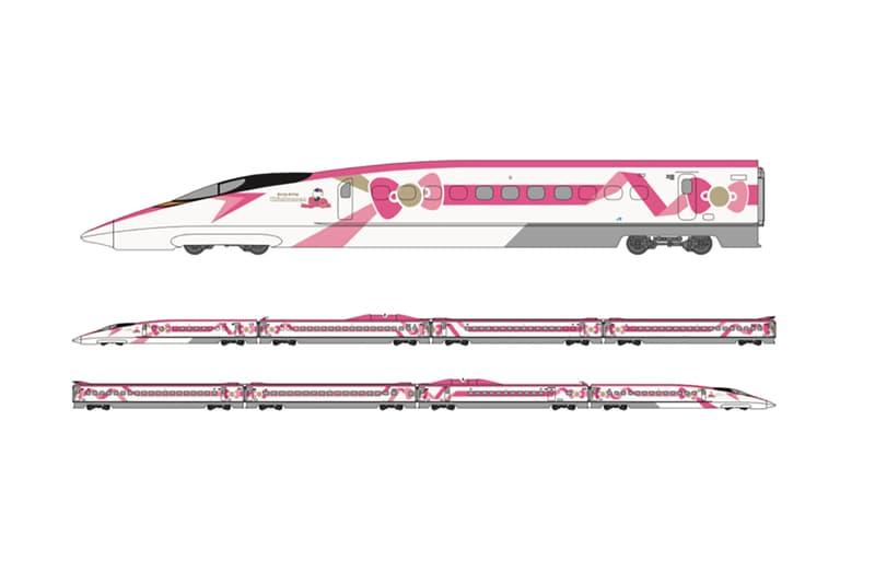 Hello Kitty Sanrio Japan high speed bullet train west western tokyo kyoto