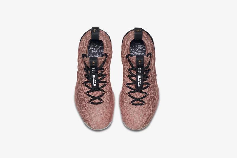 Nike lebron james 15 rust pink kids big grade school sneaker sizes flyknit nba shoe black