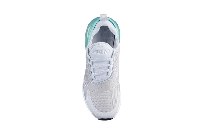 nike air max 270 emerald rose atomic pink sneakers kids children spring summer 2018