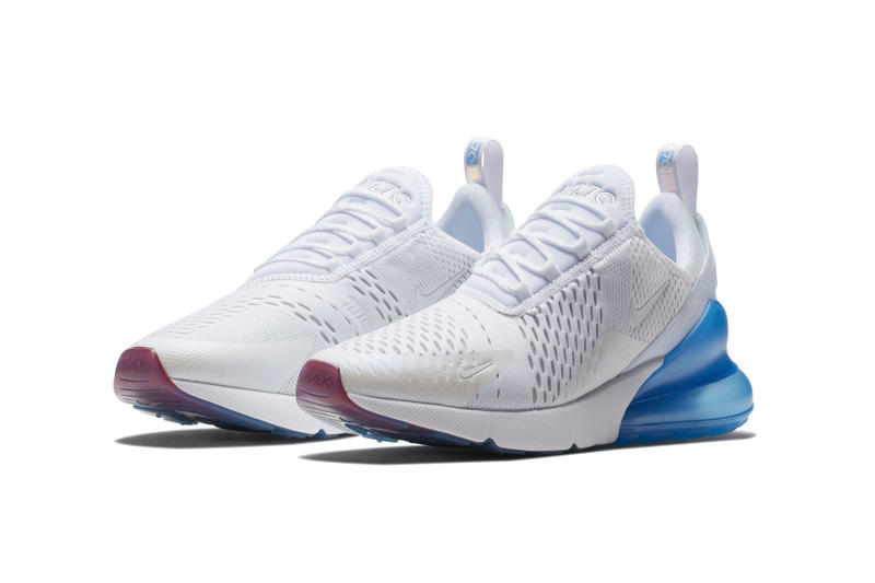 nike air max 270 white metallic sliver blue colorway kids sizes release date where to buy