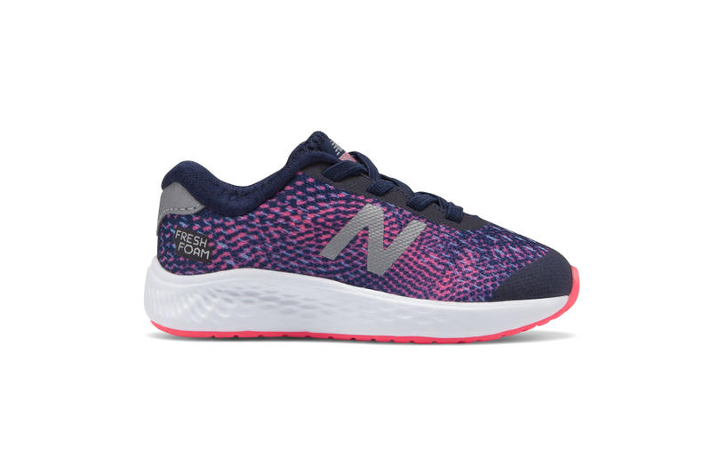 new balance fresh foam Arishi NXT kids toddlers children infants babies sneakers shoes trainers running purple pink