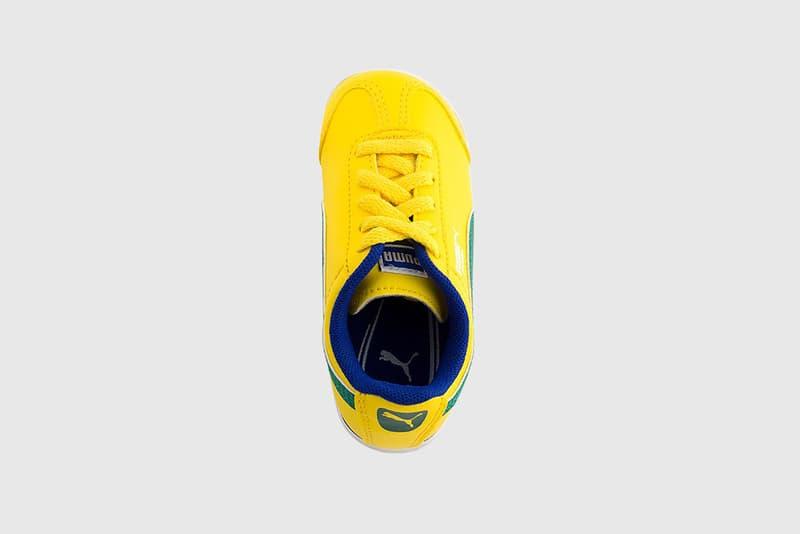 puma fifa world cup roma brazil flag green yellow blue white sneaker kids children shoe soccer football tournament sports kicks usa