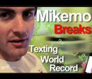 Mike Mo Breaks The Texting World Record