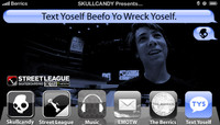 TEXT YOSELF BEEFO YO WRECK YOSELF -- With Sean Malto at Street League Arizona