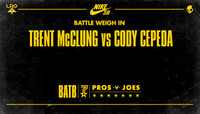 BATTLE WEIGH IN -- Trent McClung vs. Cody Cepeda