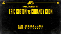BATTLE WEIGH IN -- Eric Koston vs Chhandy Khon