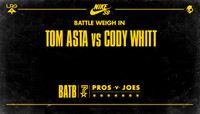 BATTLE WEIGH IN -- Tom Asta vs Cody Whitt
