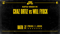 BATTLE WEIGH IN -- Chaz Ortiz vs. Will Fyock