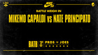 BATTLE WEIGH IN -- MikeMo Capaldi vs Nate Principato