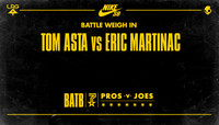 BATTLE WEIGH IN -- Tom Asta vs Eric Martinac