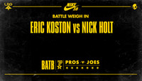 BATTLE WEIGH IN -- Eric Koston vs. Nick Holt