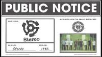 PUBLIC NOTICE -- Stereo