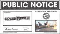 PUBLIC NOTICE -- Green Issue