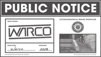 PUBLIC NOTICE -- Warco