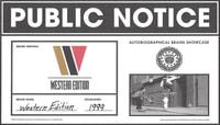 PUBLIC NOTICE -- Western Edition