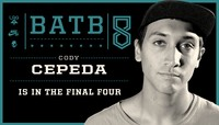 CODY CEPEDA IS IN THE FINAL FOUR