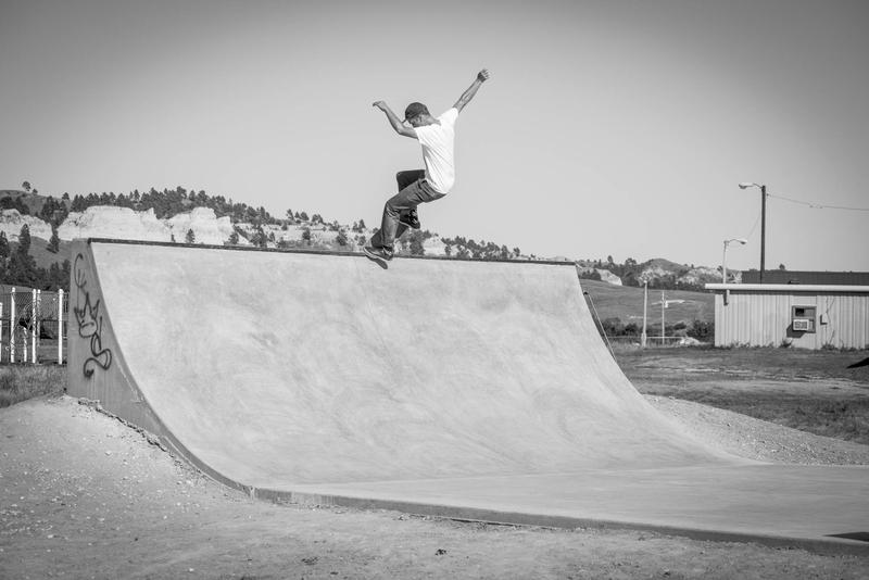 IN PHOTOS -- Skateboarding In Pine Ridge