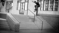 KICKFLIP FRONTSIDE BOARDSLIDES ON LOCK -- with Micky Papa