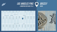 LOS ANGELES PINS -- Grizzly