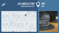 LOS ANGELES PINS -- HUF