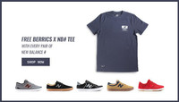 FREE BERRICS X NB# TEE -- with Every Pair Of New Balance #
