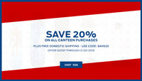 SAVE 20% -- On All Canteen Orders!