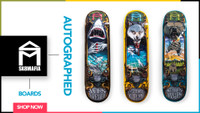 NOW AVAILABLE -- SK8MAFIA AUTOGRAPHED BOARDS