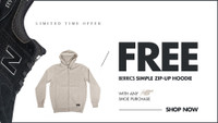 FREE BERRICS HOODIE -- with any new balance numeric shoe purchase