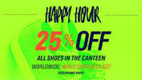 SHOE SALE IN THE CANTEEN -- 25% Off