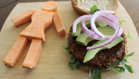 PRETTY SWEET POTATO BURGERS -- Salad Grinds and Bean Plants #3