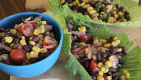 TEXAS CAVIAR WRAPS -- Salad Grinds and Bean Plants #12