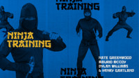 NINJA TRAINING: Nate Greenwood, Maurio McCoy, Dylan Williams, and Henry Gartland