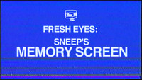 FRESH EYES: SNEEP'S 'MEMORYSCREEN'