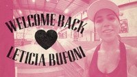 WELCOME BACK, LETICIA BUFONI
