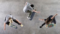 Skateboarding Shot from Above: Yoon's Bird's-Eye View