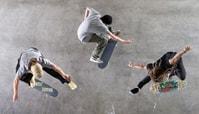Skateboarding Shot from Above: Yoon's Bird's-Eye View