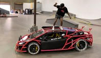 Nyjah Huston Skates Alex Choi's Lamborghini