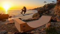 Skateboarding On 'Billionaire Beach' With Dave Bachinsky & Cody McEntire