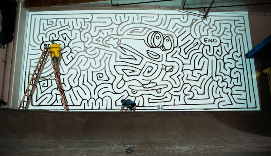 Eric J. Eckert & The Skateboarding Minion Mural