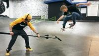 Garrett Ginner Makes a Beat Using Skateboard Sounds