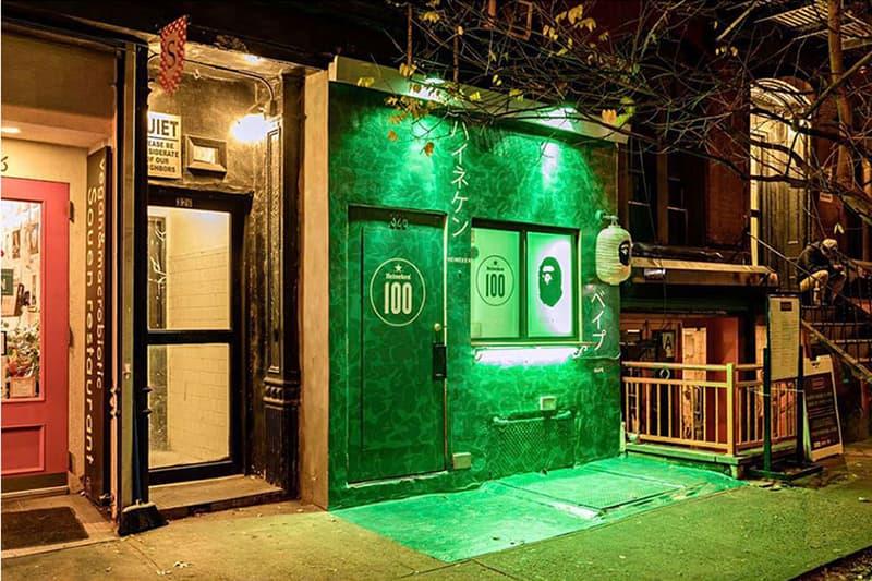 BAPE x Heineken 聯名店鋪開幕