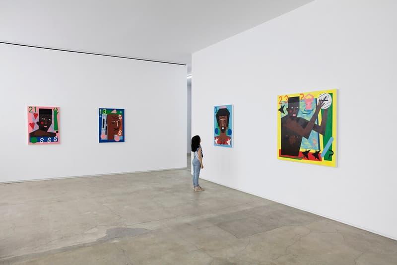 Nina Chanel Abney 画作于 「Travelogue」展览中展出