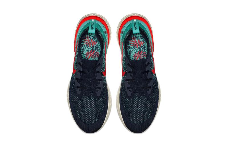 Nike Epic React Flyknit 全新配色設計「College Navy/Jade」