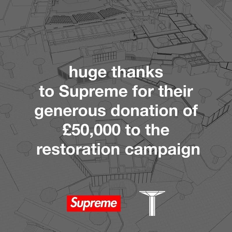 Supreme 向倫敦傳奇滑板公園 Southbank 捐款 £50,000 英鎊