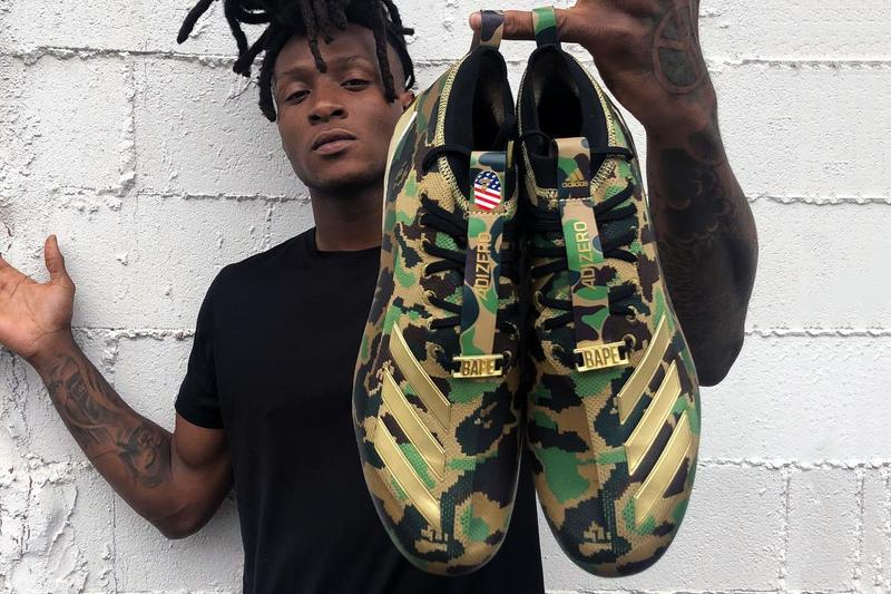 DeAndre Hopkins 率先釋出 BAPE x adidas adizero 足球鞋