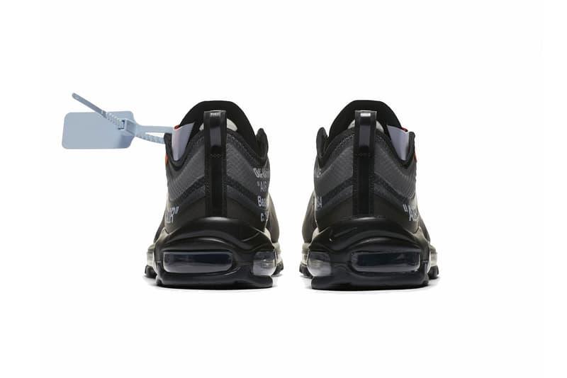 Off-White™ x Nike Air Max 97 全新黑色版本官方圖片釋出